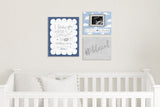 "So Little So Loved Cloud Nursery Art - Blue 10""x8"""
