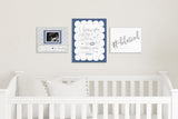 "So Little So Loved Polkadot Nursery Art - Navy 10""x8"""