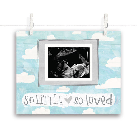 So Little So Loved Cloud Nursery Art - Turquoise 10