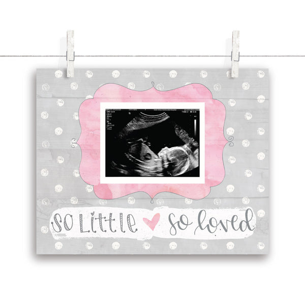 So Little So Loved Polkadot Nursery Art - Pink 10