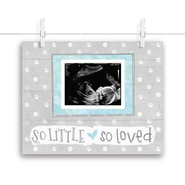 So Little So Loved Polkadot Nursery Art - Turquoise 10