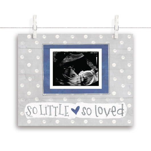 So Little So Loved Polkadot Nursery Art - Navy 10