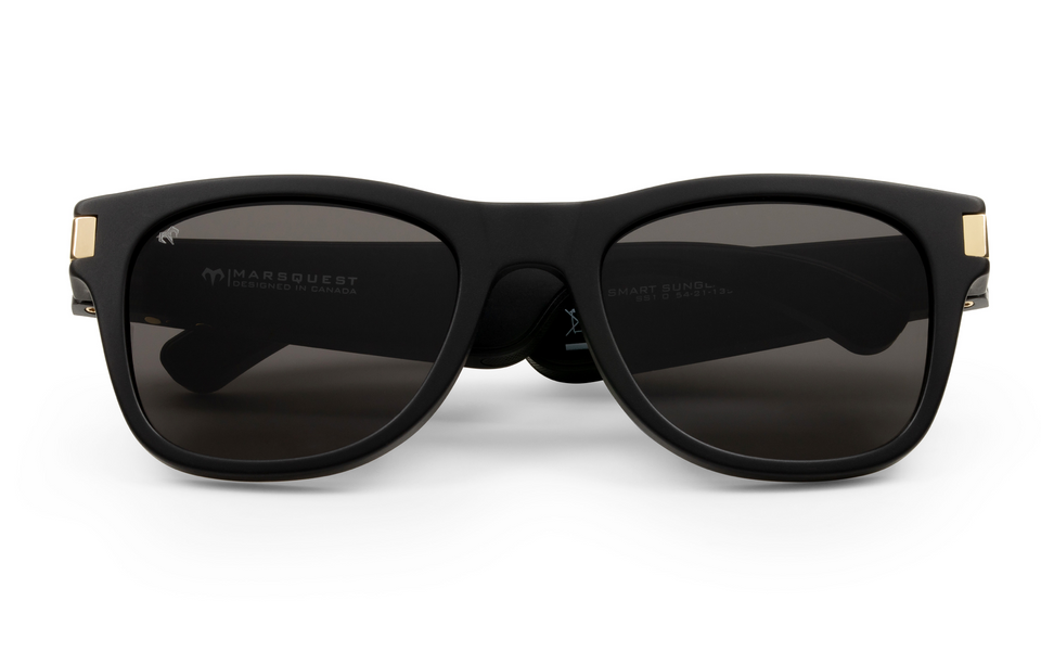 Audio Sunglasses-Audio Sunglasses-Carbon Black x Charcoal-MarsQuest
