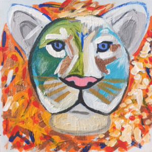 Leo the Lion 6x6 - Sally B Art