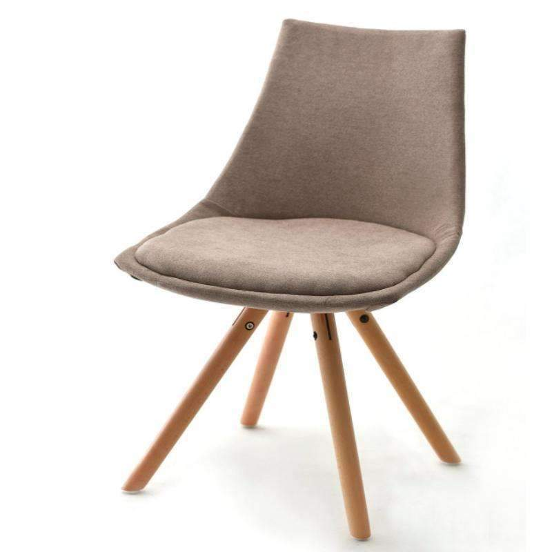Upholstered Eames Chair With Pyramid Style Legs PC 062B (Grey With Gold)