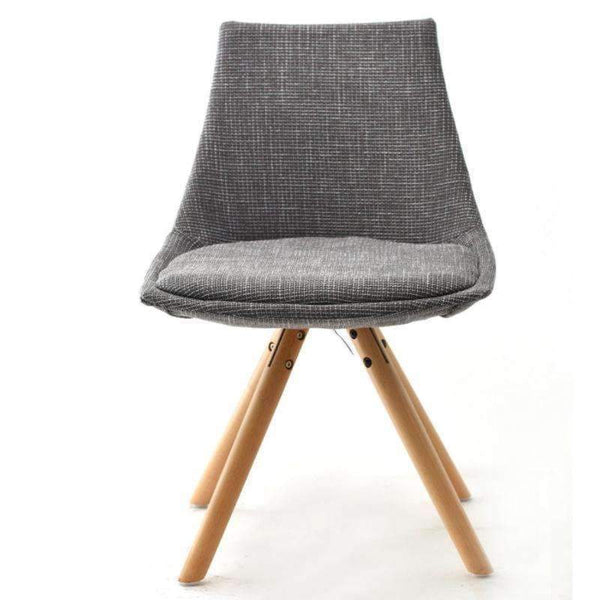 Upholstered Eames Chair With Pyramid Style Legs PC-062B (Grey with Gold)