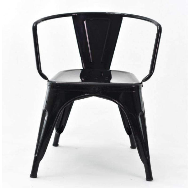 Tolix Style Metal Arm Chair T-14