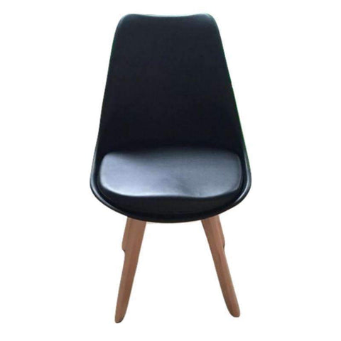Eames Dining Chair With Beech Wood Legs PC-072F (Black)