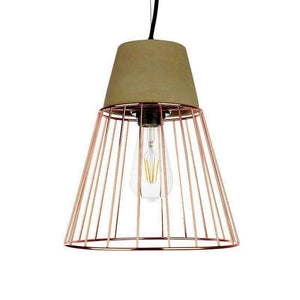 Home Cartel Colton Copper with Rose Gold Pendant Light