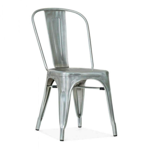 Tolix Style Metal Side Chair T-09 (Gunmetal)