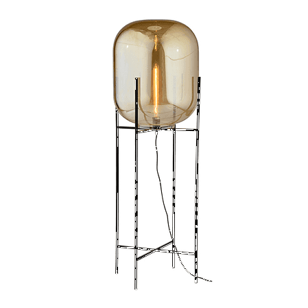 Home Cartel Asmund Metal + Glass Floor Lamp (Tall)
