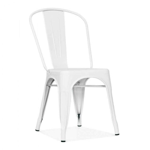 Tolix Style Metal Side Chair T-09 (White)