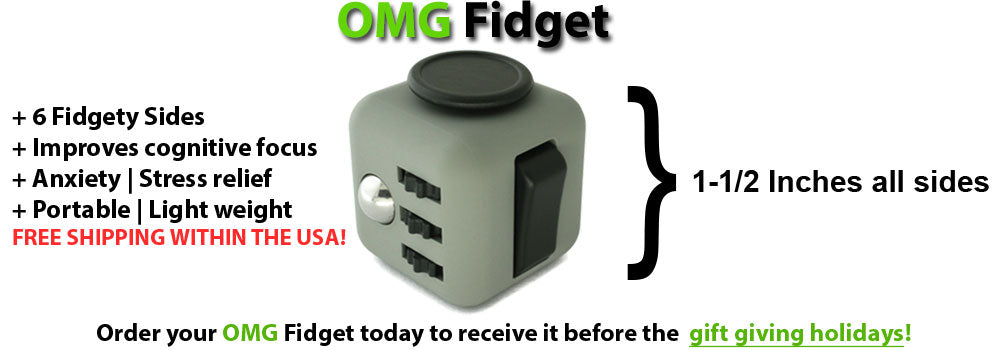 omg fidget all colors 6 sides fun new holiday gift