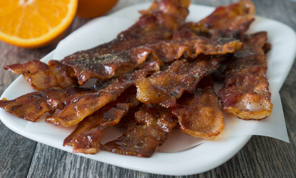 Coconut Nectar Candied Bacon