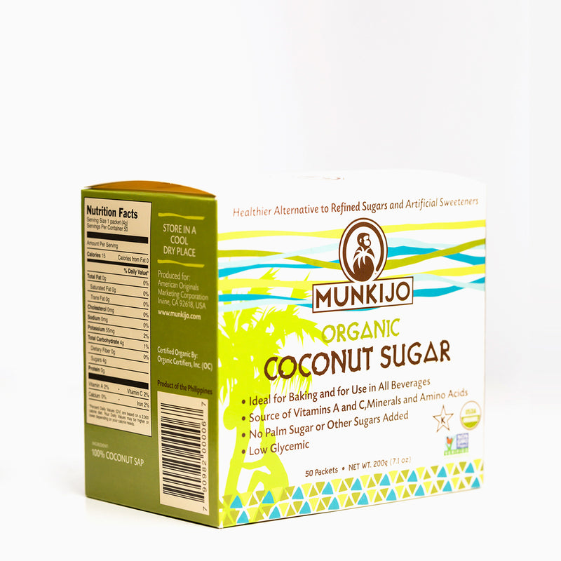 Organic Coconut Sugar Packets (Pack of 50)