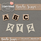 2 Cool 4 School Digital Alphabet Collection