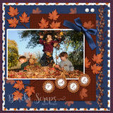 Autumn Love Pattern Background Scrapbook Paper
