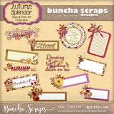 Autumn Splendor Tags & Text Art