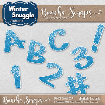 Winter Snuggle Alphabet Collection
