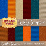 It's Fall Y'all Embossed and Chevron Digital Scrapbook Paper