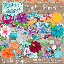 Shades of Summer Scrapbook Embellishments