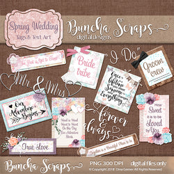 Spring Wedding Tags & Titles