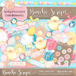 Spring Into Easter Embellishments