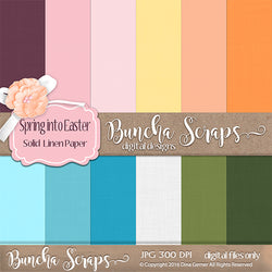 Spring Into Easter Solid Linen Scrapbook Paper