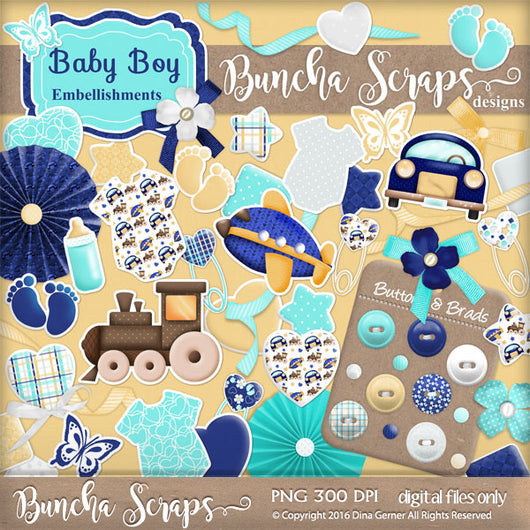 Baby Boy Embellishments