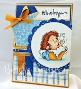 Baby Boy Pattern Background Paper
