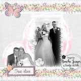 Spring Wedding Linen Background Paper