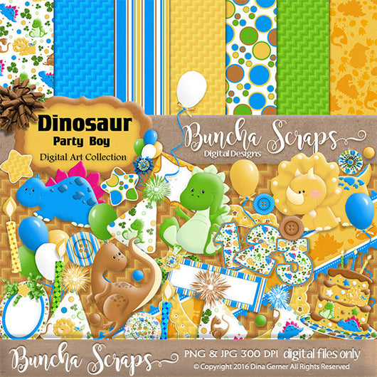Dinosaur Birthday Boy Bundle