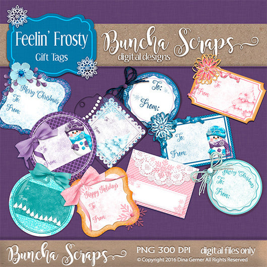 Feeling Frosty Holiday Gift Tags