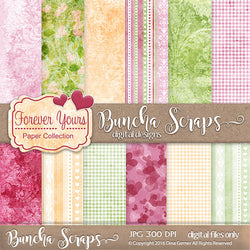 Forever Yours Patterned Scrapbook Paper