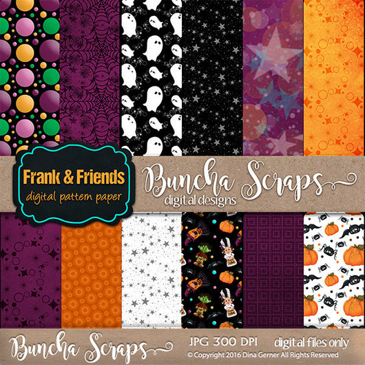 Frank & Friends Pattern Background Paper