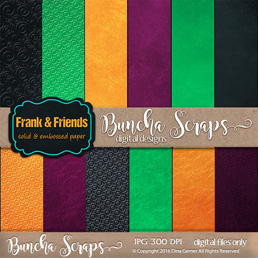 Frank & Friends Solids & Embossed Background Papers
