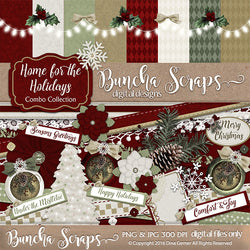 Home For The Holidays Scrapbook Combo