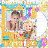 It's My Party Digital Scrapbooking Borders