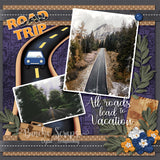 On the Road Digital Scrapbook Embellishments