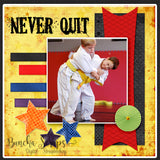 Martial Arts Embellishment Scrapbook Collection