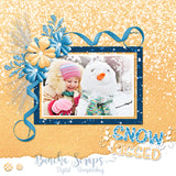 Winter Snuggle Digital Page Borders