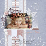 Winter Princess Textured Background Paper