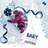 Winter Snuggle Background Solid Paper