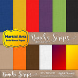 Martial Arts Solid Linen Scrapbook Paper