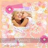 Mother's Day Garden Pattern Scrapbook Paper