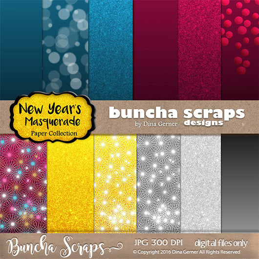 New Years Masquerade Background Paper