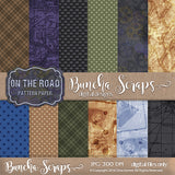 On the Road  Pattern Scrapbook Paper