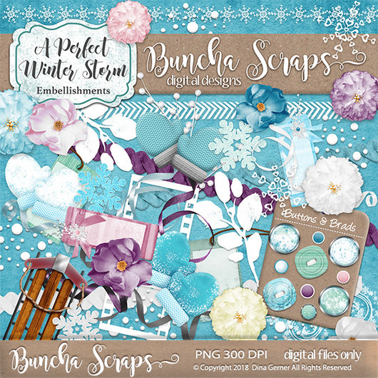 A Perfect Storm Digital Embellishments Collection