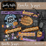 Spooky Nights Halloween Tags & Text Art