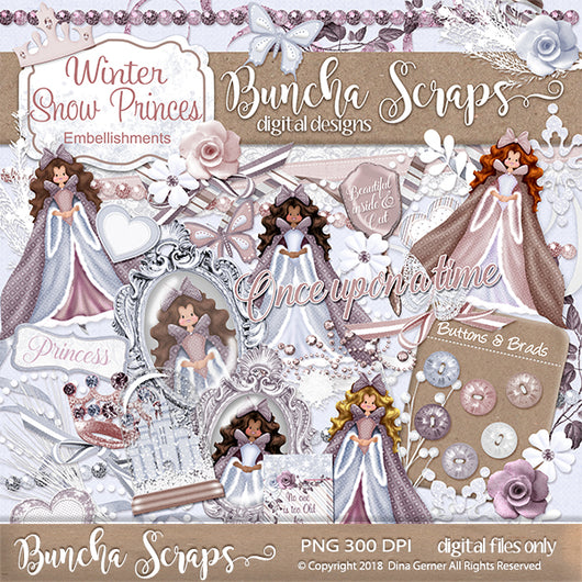 Winter Princess Embellishments